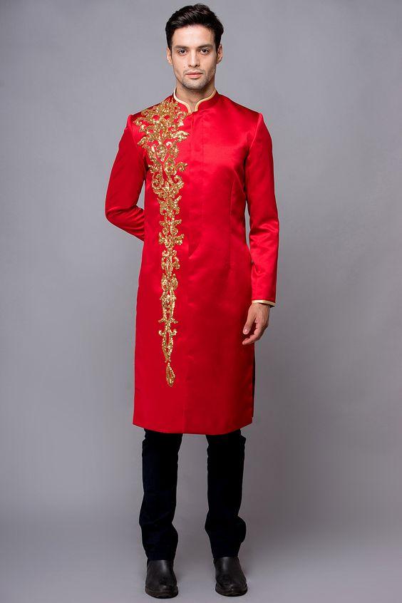 áo dài cưới nam