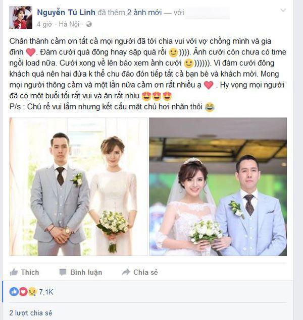 lời cảm ơn sau đám cưới