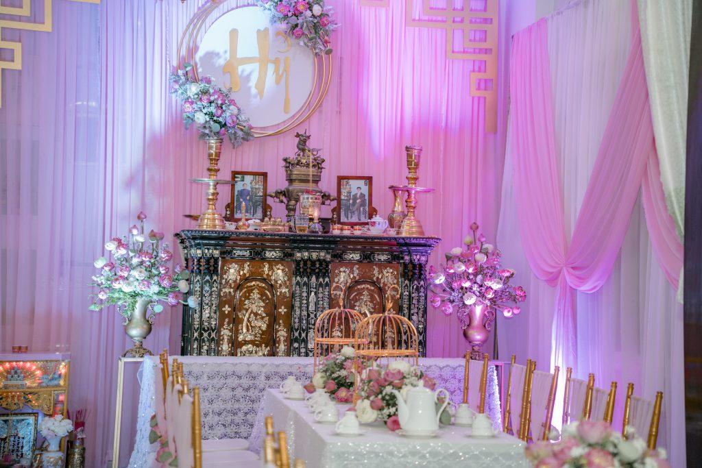 trang trí bàn lễ gia tiên