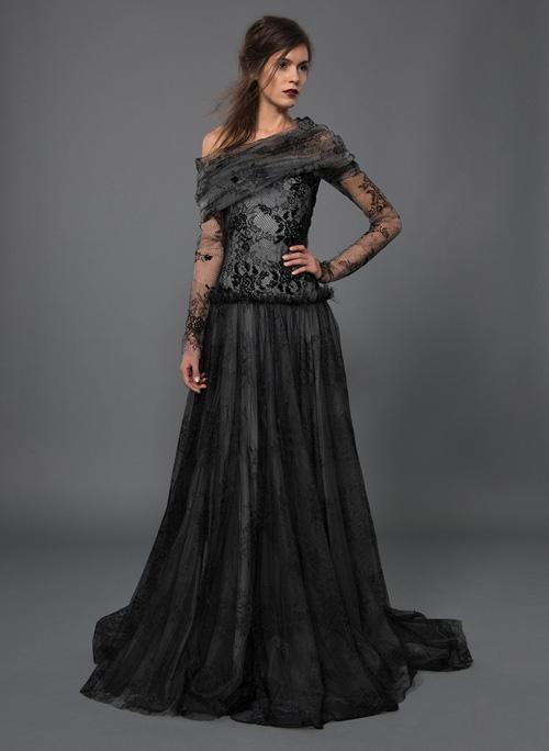 váy cưới đen cá tính