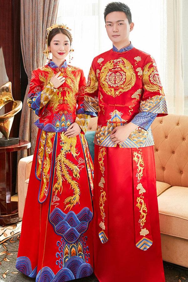 áo dài cưới truyền thống người Hoa