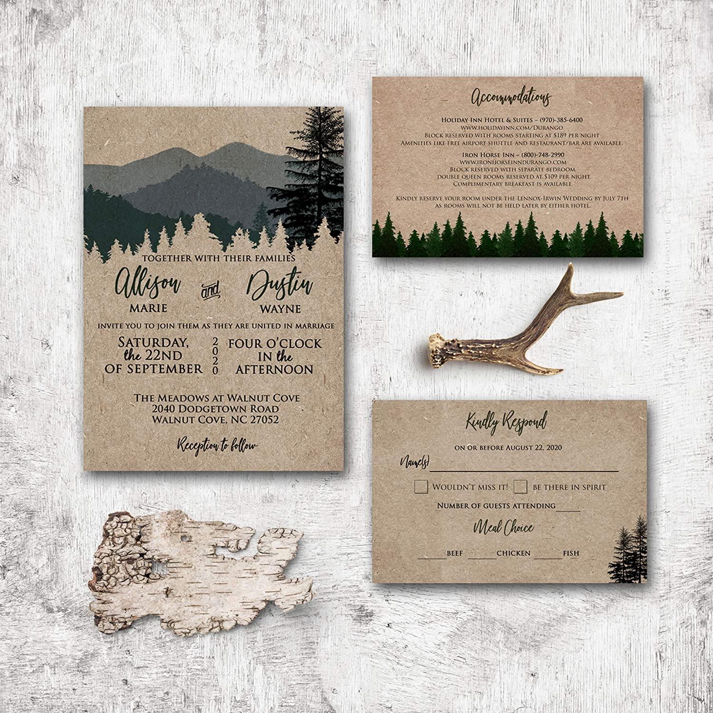 Trang trí thiệp cưới theo phong cách Rustic Marry