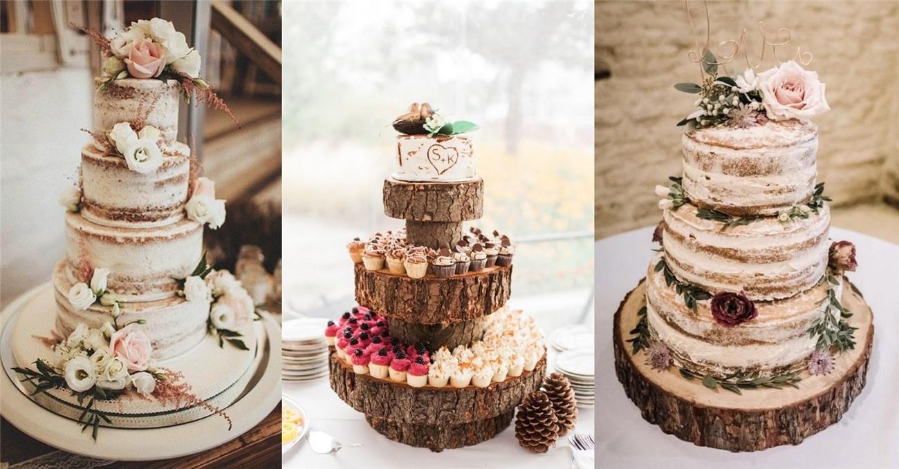 Bánh cưới theo phong cách Rustic Marry