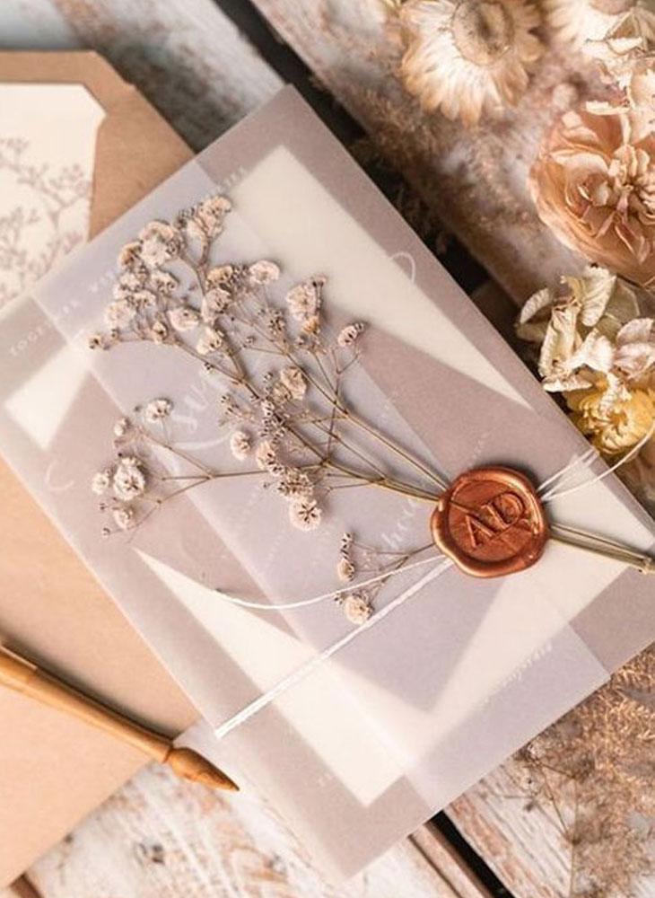 Thiệp cưới handmade cho tiệc cưới