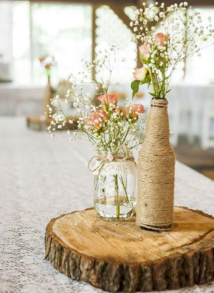 Bình hoa handmade trang trí bàn tiệc