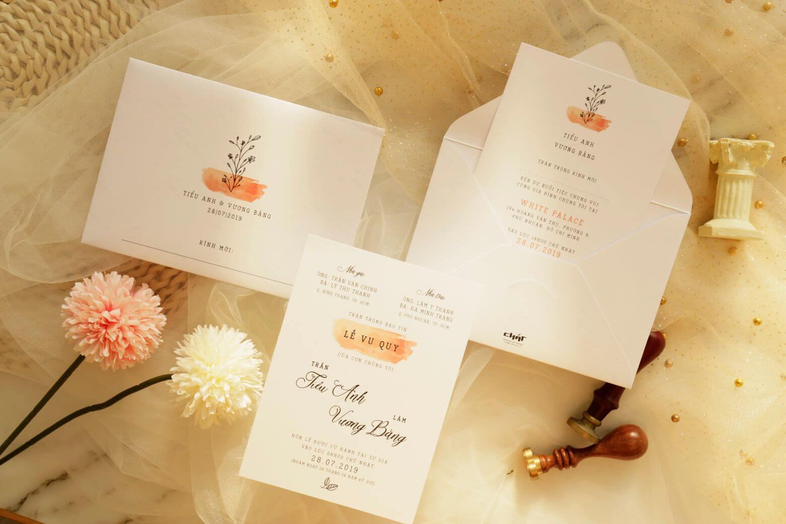 Thiệp cưới Chất Marry