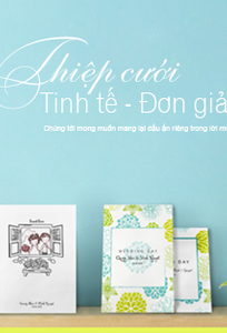 Thiệp cưới The Simple