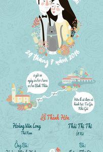 Thiết kế minh họa thiệp cưới L'Art chuyên Thiệp cưới tại  - Marry.vn