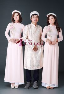Áo Dài Bưng Quả Áo Dài Cô Dâu Tài Lộc chuyên Trang phục cưới tại Thành phố Hồ Chí Minh - Marry.vn