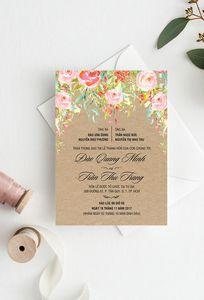 Peonies - Thiệp cưới Thiết kế chuyên Thiệp cưới tại TP Hồ Chí Minh - Marry.vn