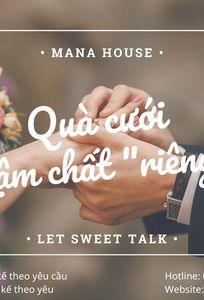MANA HOUSE chuyên Quà cưới tại Thành phố Hồ Chí Minh - Marry.vn