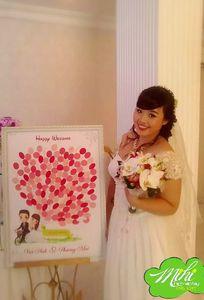 Tranh vân tay cưới MiHi chuyên Quà cưới tại  - Marry.vn