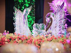 Trang trí tiệc cưới tông hồng xanh cốm - Trung Tâm Tiệc Cưới Hội Nghị Melisa Center