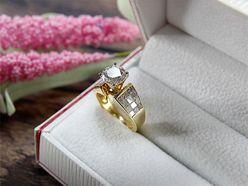 Nhẫn cầu hôn kim cương SKU 101810 HP USA - Hưng Phát USA