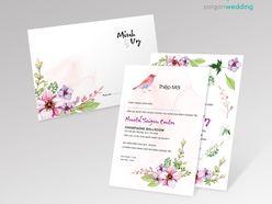 Dòng thiệp Floral 02 - P1 - Saigon Wedding - Thiệp cưới