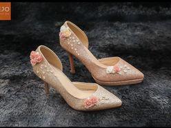 Giày cưới 7cm  - Giày cưới / Giày Cô Dâu BEJO BRIDAL