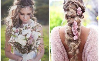 Gợi ý cho cô dâu kiểu tóc cưới Bohemian - Blog Marry