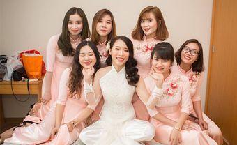 Gợi ý những mẫu áo dài bưng quả đẹp cho đội phù dâu - Blog Marry