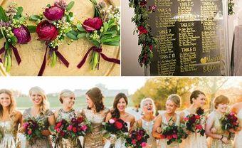Theme cưới đẹp rực rỡ kết hợp sắc đỏ và vàng ánh kim - Blog Marry