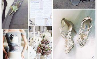 Theme cưới đẹp và lãng mạn màu xám bạc kết hợp cùng tím lilac - Blog Marry