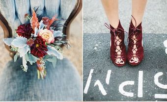 Theme cưới đẹp: Xanh thanh bình kết hợp đỏ rượu - Blog Marry