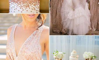 Theme cưới đẹp màu vàng hồng ánh kim thời thượng - Blog Marry