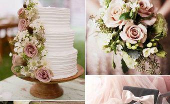 Lãng mạn với theme cưới đẹp kết hợp sắc hồng và xanh Greenery - Blog Marry