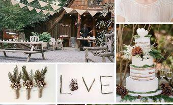 Theme cưới đẹp với tông gỗ trầm và xanh rêu mộc mạc - Blog Marry