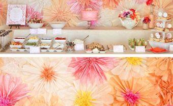 Trang trí tiệc cưới với hoa giấy xinh yêu - Blog Marry