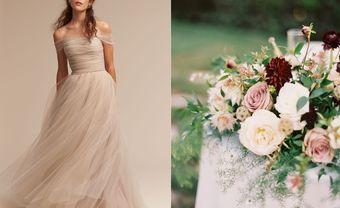 """Dusty Rose - Màu hồng tro sẽ """"thống trị"""" các lễ cưới năm 2017 - Blog Marry"""