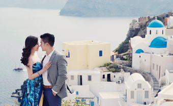 Trang trí tiệc cưới đẹp theme Santorini mang hơi thở đại dương - Blog Marry