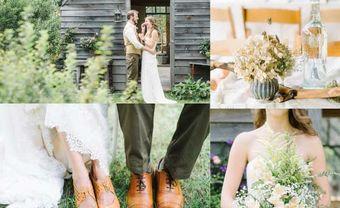 Trang trí tiệc cưới phong cách gỗ mộc miền đồng thảo - Blog Marry