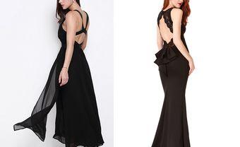 Váy màu đen đẹp: Thiết kế maxi hở lưng quyến rũ - Blog Marry