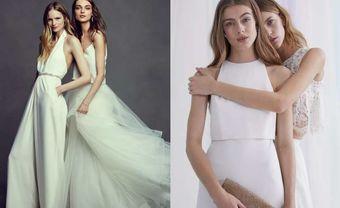 Váy phù dâu đẹp chữ A tông trắng cho cô nàng nữ tính - Blog Marry