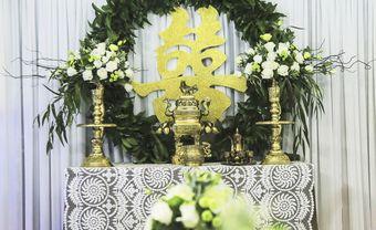 Mẫu bàn thờ gia tiên cho phong cách cưới hiện đại - Blog Marry