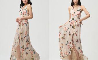 Váy phụ dâu họa tiết Floral - xu hướng mới cho đám cưới Xuân-Hè 2018 - Blog Marry