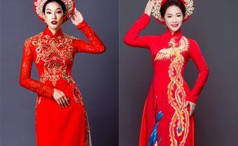 """""""Gục đổ"""" trước 12 mẫu áo dài cưới màu đỏ ấn tượng - Blog Marry"""