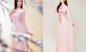 Ngọt ngào với áo dài cưới màu hồng không bao giờ lỗi mốt - Blog Marry