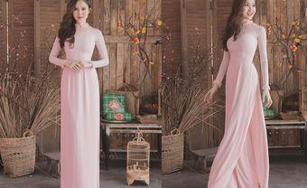 Dịu dàng với áo dài cưới màu hồng phấn ngày Vu Quy - Blog Marry