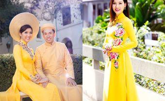 Nét rạng rỡ của những tà áo dài cưới màu vàng - Blog Marry