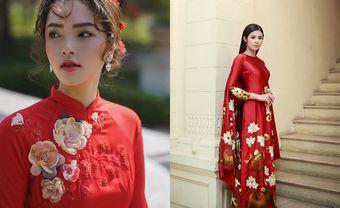 17 mẫu áo dài thêu tay tinh xảo cho nàng dâu Việt - Blog Marry