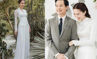 13 mẫu áo dài cưới màu trắng đẹp tinh khôi cho nàng dâu Việt - Blog Marry