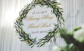 Ấn tượng nét tối giản trong các mẫu bảng tên cô dâu chú rể năm 2018 - Blog Marry