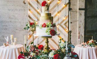 Bánh cưới metalics lấp lánh thu hút mọi ánh nhìn - Blog Marry