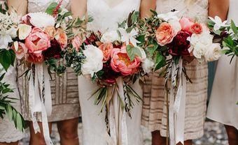 4 xu hướng phối hoa cưới cô dâu và phụ dâu mới - Blog Marry