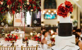 Theme cưới đen-đỏ cá tính của đôi uyên ương Singapore - Blog Marry
