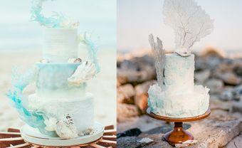 Bánh cưới chủ đề đại dương xanh mát cho đám cưới mùa Hè - Blog Marry