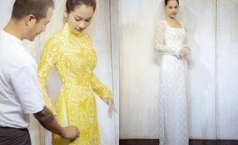 Sara Lưu xúng xính áo dài chuẩn bị cho đám cưới với Dương Khắc Linh - Blog Marry