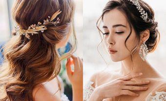 """4 kiểu tóc cưới giúp cô gái """"mặt xương"""" tự tin tỏa sáng - Blog Marry"""