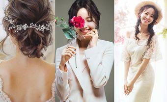 """5 kiểu tóc cô dâu Hàn Quốc """"đẹp không góc chết"""" cho nàng dâu Việt - Blog Marry"""